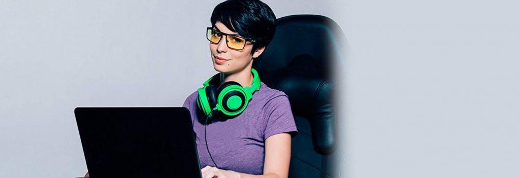 lunettes de gaming anti lumière bleue